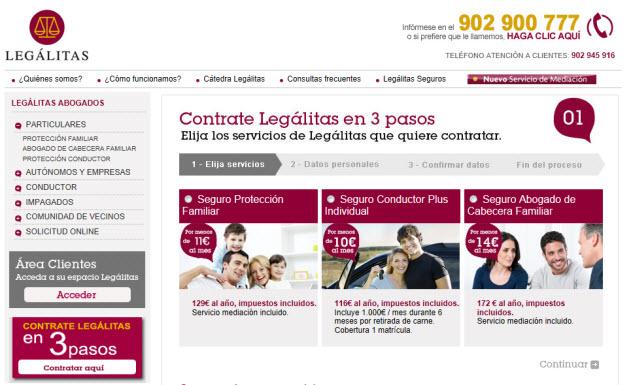 Contratar seguro legal online