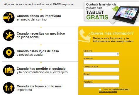 Seguro asistencia RACC1 opiniones