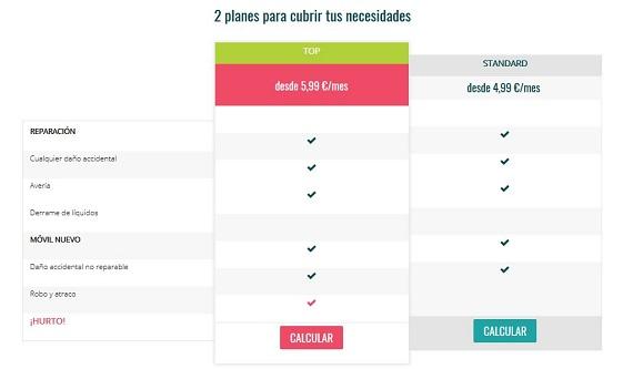 seguro de móvil precios