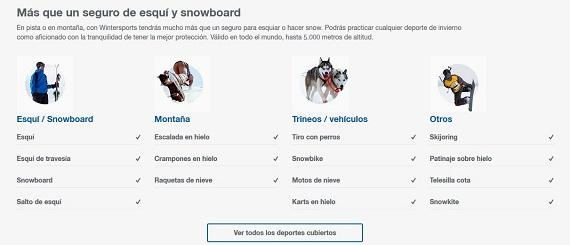seguros de esquí online
